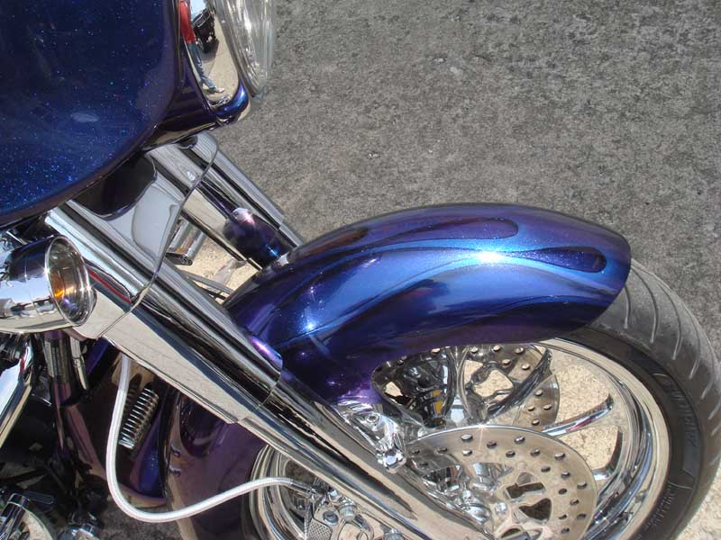 Blue Flame Harley